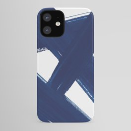 Indigo Abstract Brush Strokes | No. 3 iPhone Case