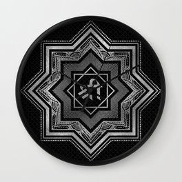 Silver Star of Lakshmi - Ashthalakshmi  and Sri Wall Clock