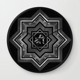 Silver Star of Lakshmi - Ashthalakshmi  and Sri Wall Clock