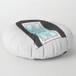 Monster door Floor Pillow