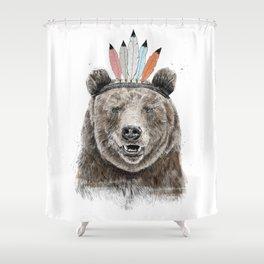Festival bear Shower Curtain