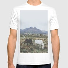 Iceland X MEDIUM White Mens Fitted Tee