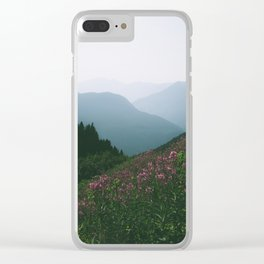 Mountains & Flowers Clear iPhone Case