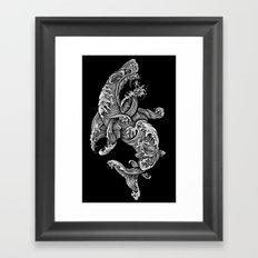 the Shark Framed Art Print