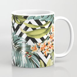 Flowered Chevron Coffee Mug