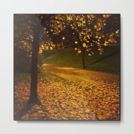Raining Gold Metal Print