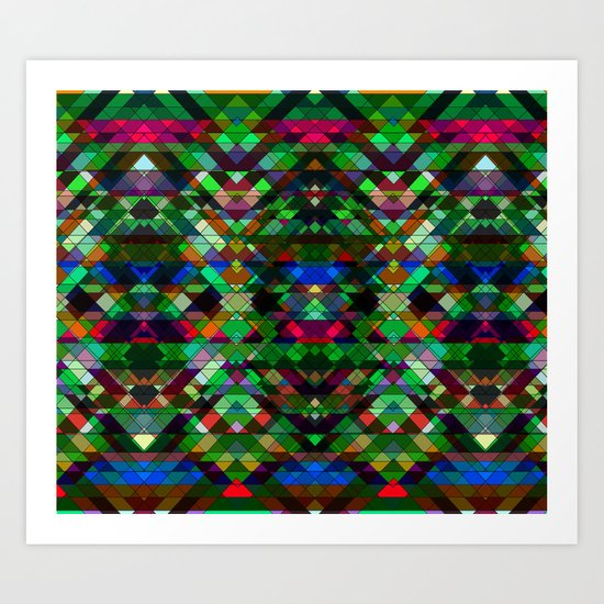 Triangle affair Art Print