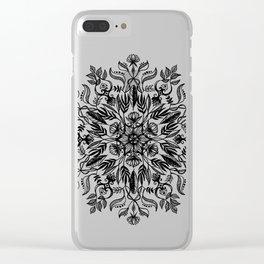 Thrive - Monochrome Mandala Clear iPhone Case