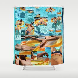 Pool Boy Shower Curtain
