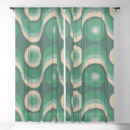70s Optical Wallpaper Sheer Curtain