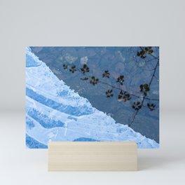 Frozen river Mini Art Print
