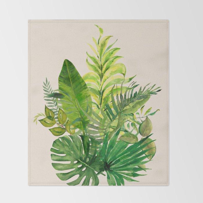 Leaves 1 Throw Blanket