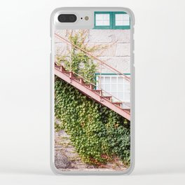 Stone House with Ivy Wall Clear iPhone Case