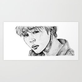BTS JIMIN Art Print