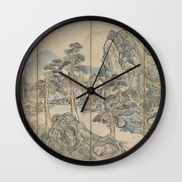 Orchid Pavilion Gathering Wall Clock