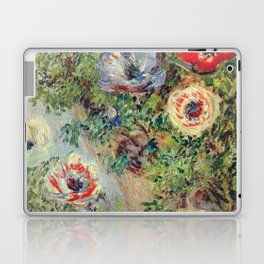 Claude Monet - Stilll Life With Anemones Laptop & iPad Skin