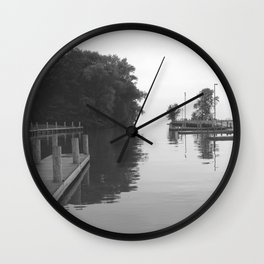 Looking out into the Lake Wall Clock
