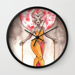 The Gilded Queen Wall Clock