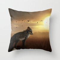 skyfall Throw Pillows featuring Skyfall by BlueHunter
