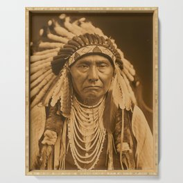 Chief Joseph Photograph by Edward Curtis, 1903 Serving Tray
