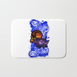 Lotus Skull Bath Mat