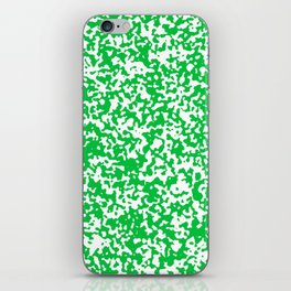Small Spots - White and Dark Pastel Green iPhone Skin