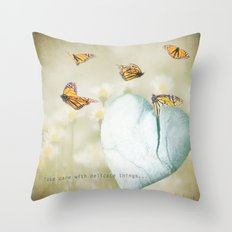 Delicate Things Throw Pillow