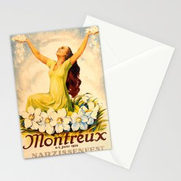 Werbeplakat Montreux Narcissus Festival Paris Opera Switzerland Stationery Cards