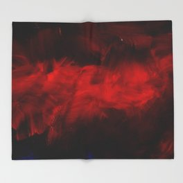 Red And Black Abstract Gothic Glam Chic Throw Blanket