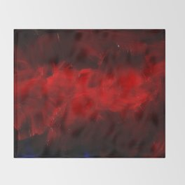 Red And Black Luxury Abstract Gothic Glam Chic by Corbin Henry Throw Blanket