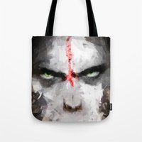ape Tote Bags featuring Ape by Vadim Cherniy
