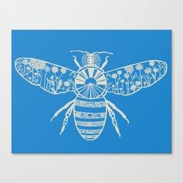 Bee Paper-Cut Canvas Print
