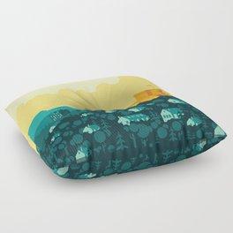 Golden castle Floor Pillow