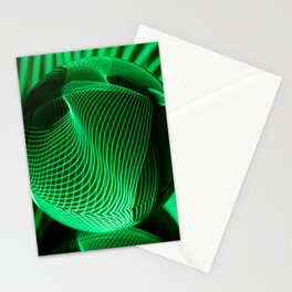 Green in the glass ball Stationery Cards
