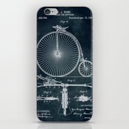 1890 Brake for bicycles patent iPhone Skin