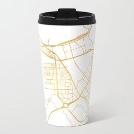ABU DHABI UNITED ARAB EMIRATES CITY STREET MAP ART Travel Mug