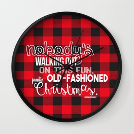 Fun Old-Fashioned Family Christmas Wall Clock