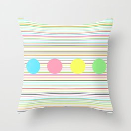 Notes and sound Throw Pillow