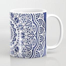 Deep Ocean Blue Mandala - LaurensColour Coffee Mug