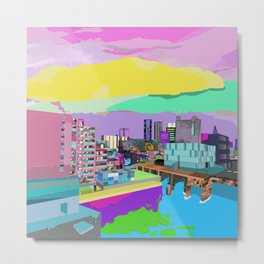 Technicolour Toyosu Metal Print