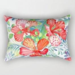 Summer tropical flowers Rectangular Pillow