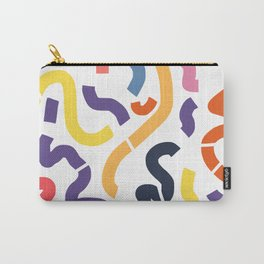 Bold color abstract pattern 01 Carry-All Pouch