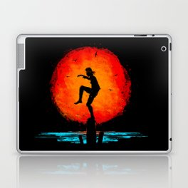 Minimalist Karate Kid Tribute Painting Laptop & iPad Skin
