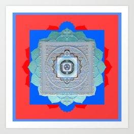 Color Bliss Therapy Vintage Texture Mandala Art Print