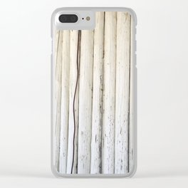 Wire on Wood Clear iPhone Case