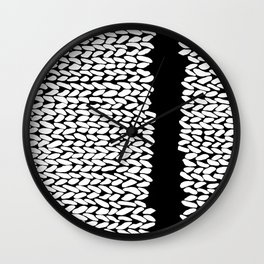 Missing Knit On Side Wall Clock