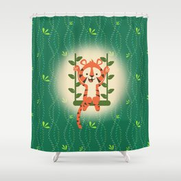 BABY TIGER SWING Shower Curtain