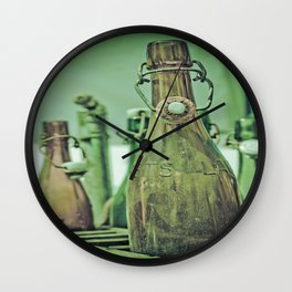 Old Bottles Wall Clock