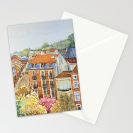 Brussels: neighborhood in Forest area. Stationery Cards