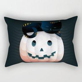 065 - tired kitty on the Halloween pumkpin Rectangular Pillow